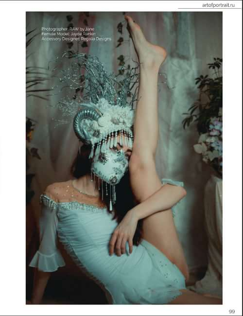Work  by Jayde Rankin, RAW by Jane, Art of Portrait, Regalia Designs, Amaya