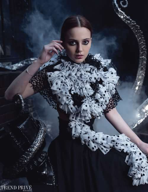 """Black Pearls""    by Trend Prive Magazine, Conrad Lee, Roxana Gavrau, Elisa Farias , Jesika July, Bryanna Allen, Inga Soldatkina, Kiki Lin"