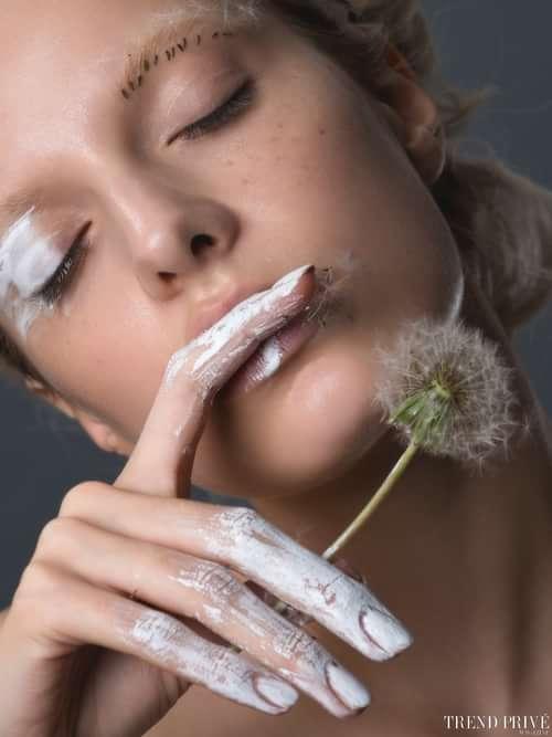 """White Dandelion""   by Trend Prive Magazine, Julie Belanska, Elvira (Tann Model Management), Karina Tretyakova"
