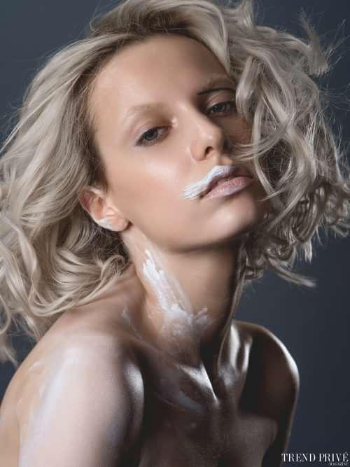 """""""White Dandelion""""   by Trend Prive Magazine, Julie Belanska, Julie Belanska, Elvira (Tann Model Management), Karina Tretyakova"""