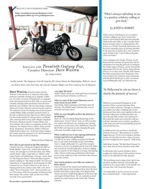 Seven Ages... #davewarren #creativedirector #twentiethcenturyfox     by Trend Prive Magazine, J.T. Seibert