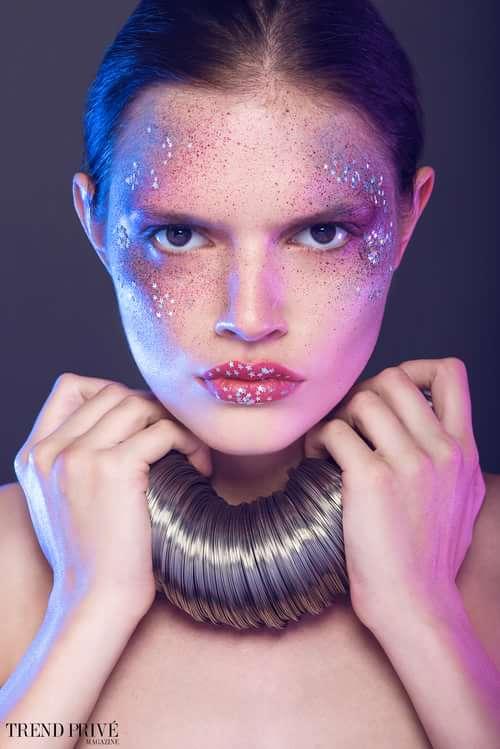 Work  by Valeria Orlando, Gabriele Di Martino, Myra Postolache, Trend Prive Magazine, V)or Makeup By Valeria Orlando , Lila Poter