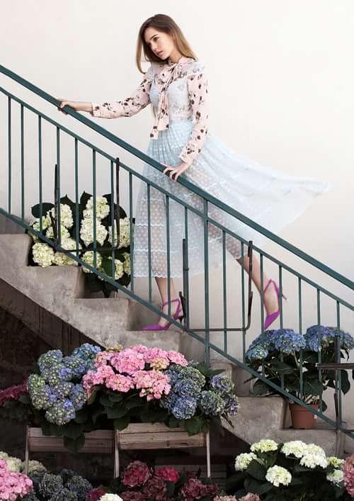 """Jardin"" by Natallia Jolliet  Stylist – Kati German Make-up Artist – Anna Gambalonga Hair – Caio Faria Model – Priscilla Location – Geneva, Swizterland   by Trend Prive Magazine, Natallia Jolliet, Anna Gambalonga, Caio Faria"